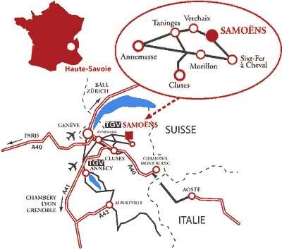 План заїзду Samoëns