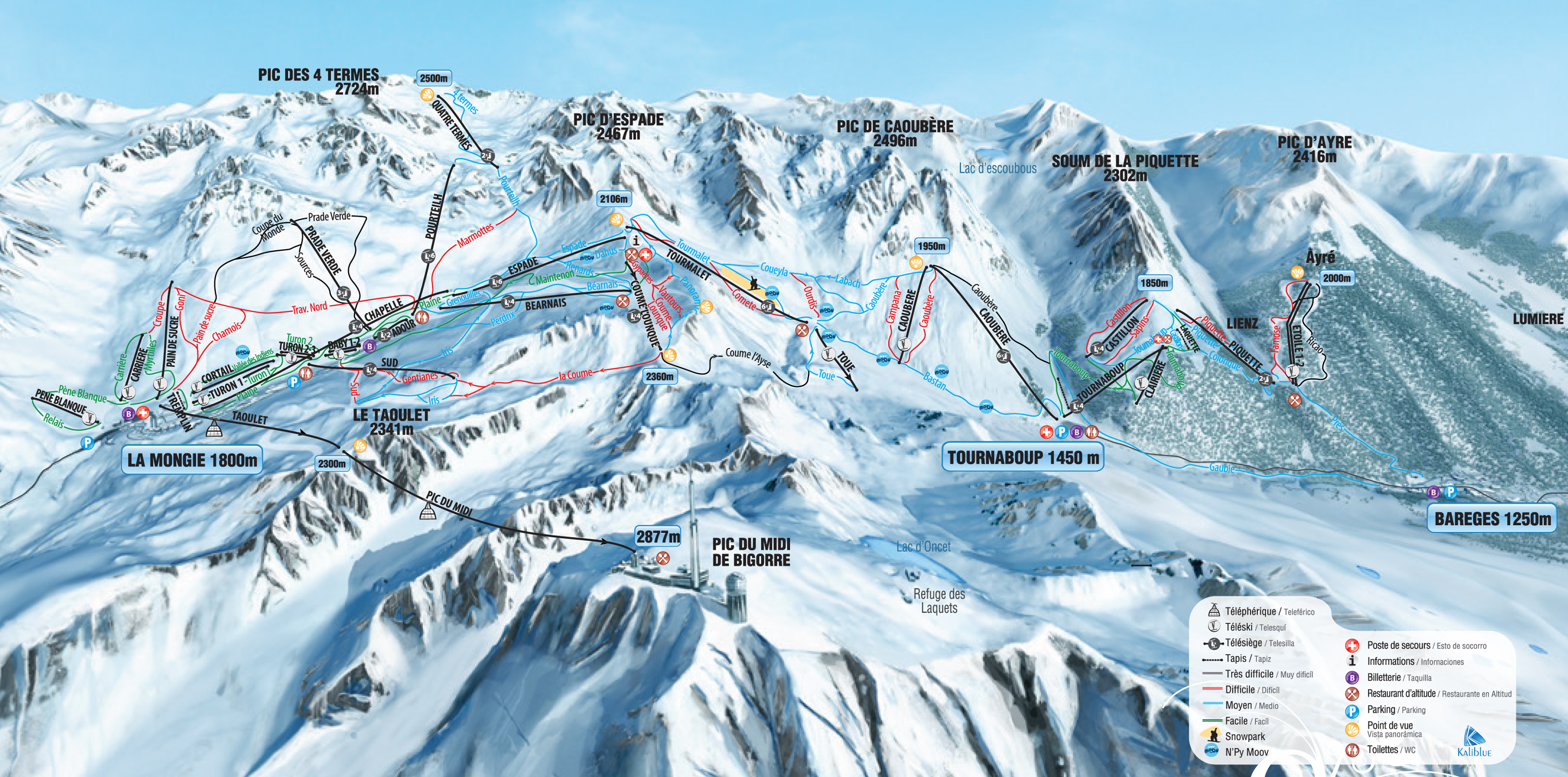 La Mongie book apartments and chalets with skifrancecom
