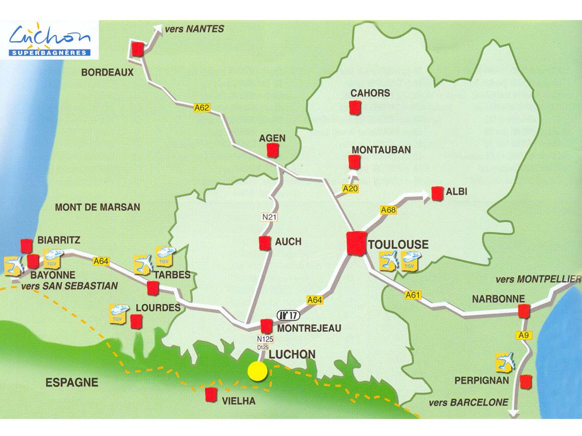 Карта прибытия Luchon