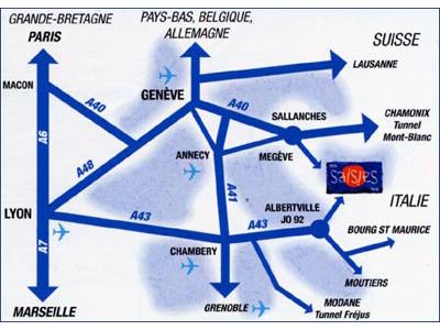 Navodila za pot Les Saisies