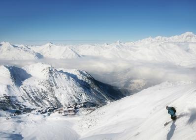 Les Arcs 1950 - Widok na góry
